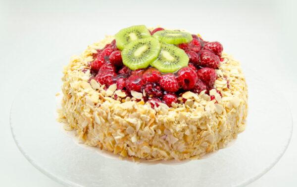 Kohupiima-vaarika tort