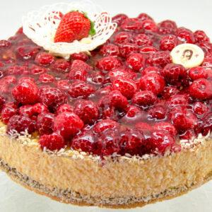 Mango-vaarika tort