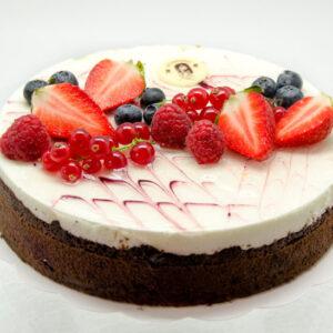 mustika-toorjuustu tort